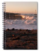 Ocean Wave Storm Pier Spiral Notebook