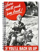 Wwii Poster, C1943 Spiral Notebook