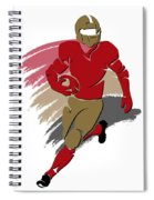49ers Shadow Player2 Spiral Notebook