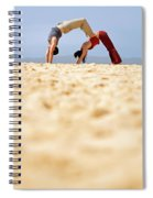 A Man And Woman Practicing Yoga Spiral Notebook