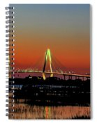 Arthur Ravenel Bridge Orange Glow Spiral Notebook