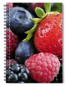 Assorted Fresh Berries Spiral Notebook