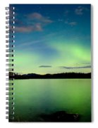 Aurora Borealis Northern Lights Display Spiral Notebook