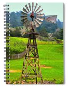 Painting San Simeon Pines Windmill Spiral Notebook