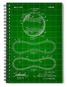 Baseball Patent 1927 - Green Spiral Notebook