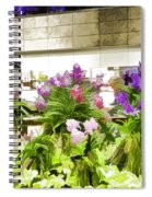 Beautiful Flowers Inside The Changi Airport In Singapore Spiral Notebook