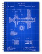 Beer Tap Patent 1876 - Blue Spiral Notebook