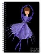 5 Blue Ballerina Spiral Notebook