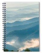 Blue Ridge Parkway Scenic Mountains Overlook Summer Landscape Spiral Notebook