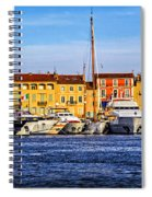 Boats At St.tropez Spiral Notebook