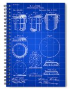 Bottle Cap Patent 1892 - Blue Spiral Notebook