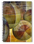 5 By 5 Gold Worlds Spiral Notebook
