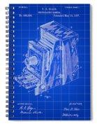 Camera Patent 1887 - Blue Spiral Notebook