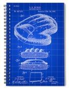 Catcher's Glove Patent 1891 - Blue Spiral Notebook