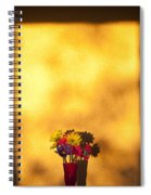 Daisies In A Vase On Shelf Spiral Notebook
