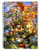 Fall Abstract Spiral Notebook