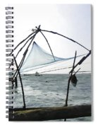 Fishing Nets On The Sea Coast In Alleppey Spiral Notebook