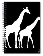 Giraffe In Black And White Spiral Notebook