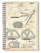 Golf Club Patent 1926 - Vintage Spiral Notebook