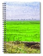 Green Fields With Birds Spiral Notebook