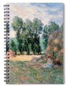 Haystacks Spiral Notebook