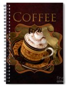 Cappuchino Coffee Gallery Spiral Notebook