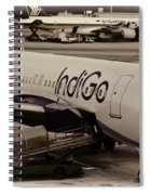 Indigo Aircraft Getting Ready In Changi Airport Spiral Notebook