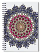 Kaleidoscope Colorful Jeweled Rhinestones Spiral Notebook