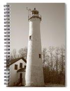 Lighthouse - Sturgeon Point Michigan Spiral Notebook