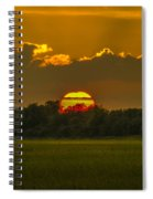 Lowcountry Sunset Over The Marsh Spiral Notebook