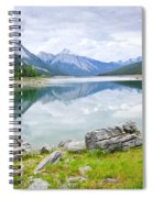 Mountain Lake In Jasper National Park Spiral Notebook