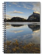 Mt. Rundle And Vermillion Lake Spiral Notebook