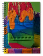 Multicolored Paint Can With Brushes Spiral Notebook
