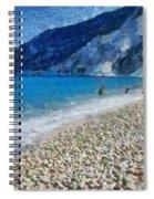 Myrtos Beach In Kefallonia Island Spiral Notebook