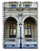 Ornate Architectural Artwork On The Buildings Of The Musee Du Louvre In Paris France Spiral Notebook