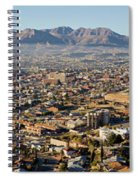 Panoramic View Of Skyline And Downtown Spiral Notebook