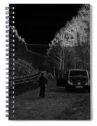 Parking Next To A Loch In The Scottish Highlands Spiral Notebook