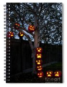 Pumpkin Escape Over Fence Spiral Notebook