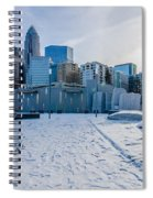 Rare Winter Scenery Around Charlotte North Carolina Spiral Notebook