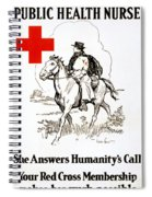 Red Cross Poster, C1917 Spiral Notebook