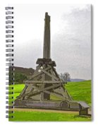 Replica Of Wooden Trebuchet And The Ruins Of The Urquhart Castle Spiral Notebook