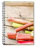 Rhubarb Spiral Notebook