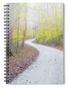 Road Passing Through A Forest Spiral Notebook
