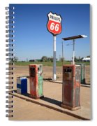 Route 66 Gas Pumps Spiral Notebook
