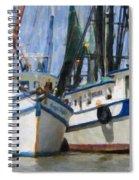 Shrimp Boats On The Creek Spiral Notebook