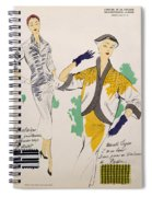 Sketches And Fabric Swatches Spiral Notebook
