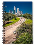 Skyline Of Uptown Charlotte North Carolina Spiral Notebook