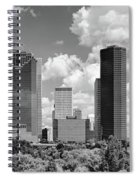 Skyscrapers In A City, Houston, Texas Spiral Notebook