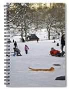 Snowboarding  In Central Park  2011 Spiral Notebook