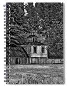 5 Star Barn Bw Spiral Notebook